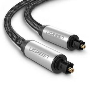 UGREEN AV108 Cablu optic audio Toslink, aluminiu împletit, 2m