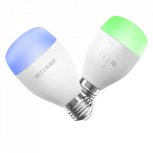 Bec inteligent Blitzwolf Wi-Fi Smart Bulb E27 RGB