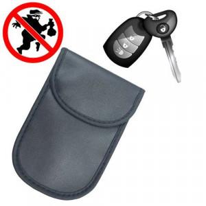 Carcasă blocare radio Faraday pentru chei auto 14 cm x 10 cm negru