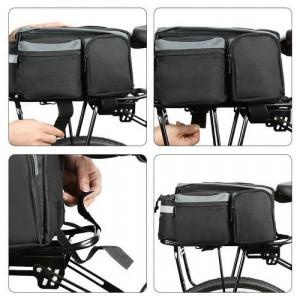 Geantă portbagaj Wozinsky pentru biciclete cu curea de umăr negru