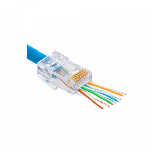 Mufa RJ-45 UTP Cat.6 EZ Passthrough (100 buc) RJ45-CAT6-EZ
