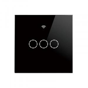 SmartWise T4 EU 3C R2 WiFi + RF comutator de lumină inteligent negru