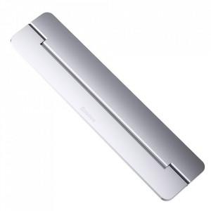 Suport/Stand laptop Baseus din aluminiu cu autoadeziv - argintiu