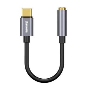 Adaptor audio Baseus L54 USB-C la mini jack 3,5 mm (negru + gri)