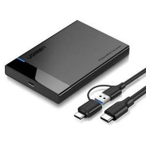 Carcasa rack HDD/SDD UGREEN SATA 2,5'' 2 in 1 USB-A + USB-C to USB-C