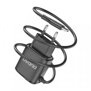 Încărcător pentru telefon USB 2x Dudao cu cablu micro USB 12 W negru