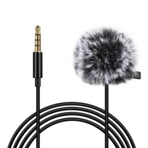 Lavaliera Microfon de înregistrare cu condensator Jack de 1,5 m 3,5 mm PU424