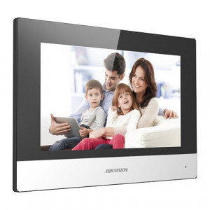Monitor videointerfon Touch Screen TFT LCD 7 inch, conectare 2 fire, Wifi - HIKVISION DS-KH6320-WTE2