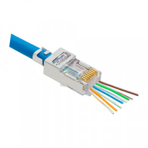 Mufa RJ-45 FTP Cat.5e EZ Passthrough ecranata (100 buc) RJ45M-CAT5-EZ