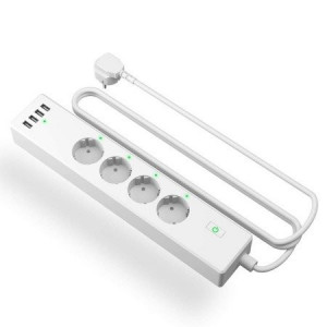 Priza inteligentă cu protectie împotriva supratensiunii WiFi Meross