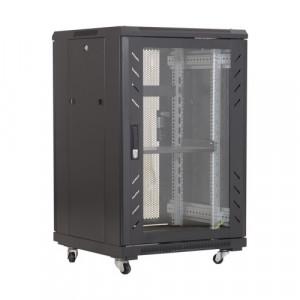 Rack podea 18U 19' 600x800, negru - ASYTECH Networking ASY-18U-6080E