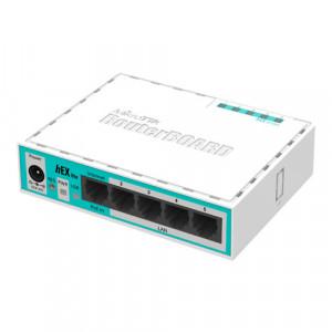 Router hEX Lite, 5 x Fast Ethernet, RouterOS L4 - Mikrotik RB750r2