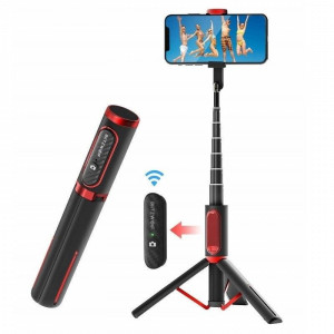 Selfie stick / Stativ Bluetooth BlitzWolf BW-BS10 , negru-rosu