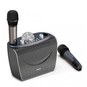 Set karaoke Dudao microfon 2x + difuzor bluetooth fără fir cu lampă discotecă