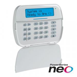 Tastatura LCD alfanumerica wireless si cititor de proximitate, cablata, 128 zone, SERIA NEO - DSC