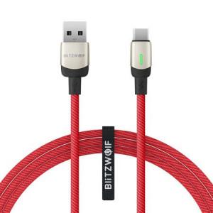 Cablu date BlitzWolf BW-TC21 USB-C 3A 1m (roșu)