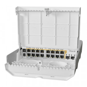 Cloud Router Switch outdoor 16 x Gigabit PoE-Out, 2 x SFP+ - Mikrotik CRS318-16P-2S+OUT