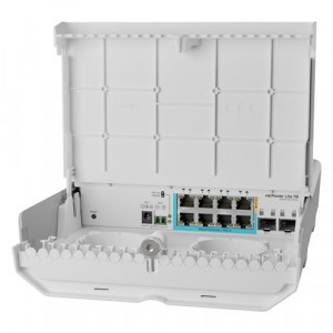 Cloud Smart Switch outdoor, 8 x Gigabit (7 PoE in), 2 x SFP+ 10Gbps - Mikrotik CSS610-1Gi-7R-2S+OUT