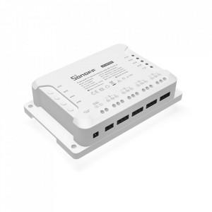 Comutator/Releu inteligent WiFi + RF 433 Sonoff 4CH Pro R3 cu 4 canale
