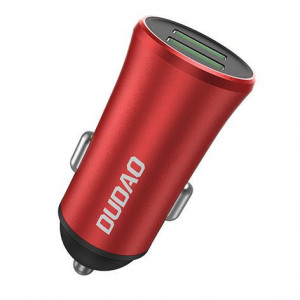 Încărcător auto universal Dudao 3,4A 2x USB roșu
