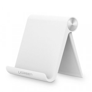 Suport portabil reglabil multi-unghi Ugreen pentru iPad , E-reader sau telefon alb