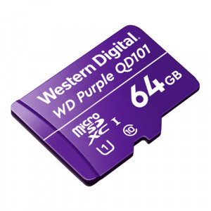 Card MicroSD 64GB, seria Purple Ultra Endurance - Western Digital WDD064G1P0C
