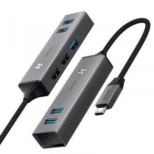 HUB Baseus USB-C la 3x USB 3.0 + 2x USB 2.0