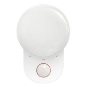 Lampă de noapte Baseus Full Moon, cu senzor de mișcare și amurg (alb)