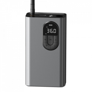 Mini compresor auto portabil baterie 7500mAh Baseus - gri