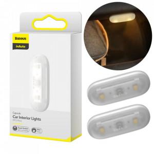 Set 2 x lampa LED auto interior Baseus alb (DGXW-02)