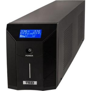 UPS 3000VA LED TED Line Interactive, Stabilizator, 3 Iesiri Schuko Olanda