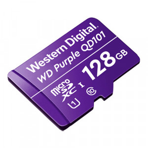 Card MicroSD 128GB, seria Purple Ultra Endurance - Western Digital WDD128G1P0C