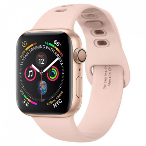 Curea Spigen Air Fit Band Apple Watch 1/2/3/4/5 (42 / 44MM) Roz/Auriu