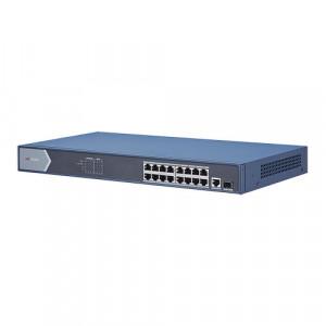Switch 16 porturi PoE 1000Mbps, 1xRJ45 + 1xSFP Gigabit uplink - HIKVISION DS-3E0518P-E