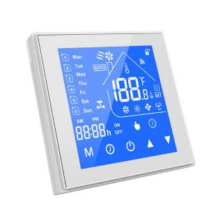 Termostat inteligent WiFi, compatibil cu aplicația eWeLink, tip 'C' (contact uscat) alb