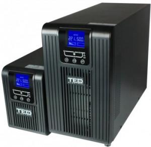 UPS 3000VA TED cu stabilizator Online - 2 Iesiri Schuko + 1 Regleta, Olanda