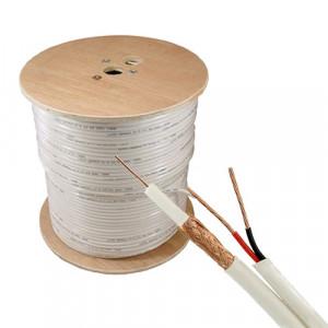 Cablu coaxial RG59 + alimentare 2x0.75, 305m, alb TSY-RG59+2X0.75-W