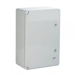 Cutie distributie IP65 din ABS gri, usa mata, placa metalica, 400x500x240 mm PP3007