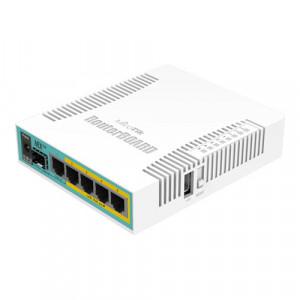 Router hEX PoE, 5 x Gigabit 4 PoE, 1 x SFP, RouterOS L4 - Mikrotik RB960PGS