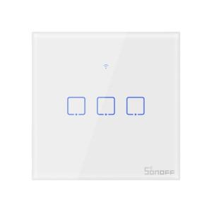 Smart Switch WiFi + RF 433 Sonoff T1 EU TX 3 Canale