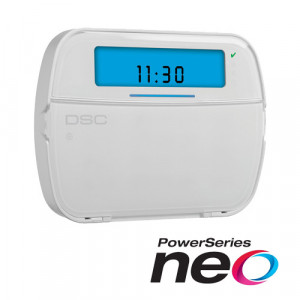 Tastatura LCD cu iconuri + modul wireless , cablata, 128 zone, SERIA NEO - DSC NEO-HS2ICON-RF