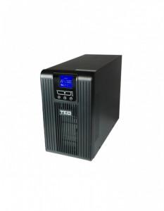 UPS TED Electric 2100VA / 1400W Online dubla conversie cu 2 x iesiri Schuko + 2 x iesiri IEC C13