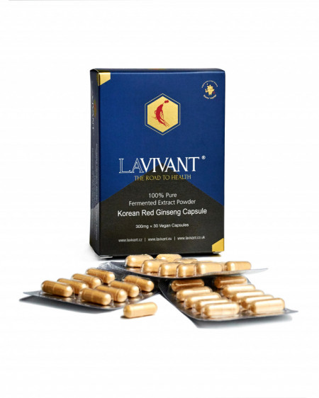 Set 4 cutii ROYAL GOLD Ginseng Rosu Korean - LaVivant - extract pur 100% Super Concentrat Fermentat 130mg/g ginsenozide - capsule