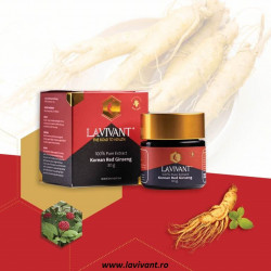 Set 4 Cutii Ginseng Rosu Korean - LaVivant - extract pur 100% Super Concentrat 30g. 80mg/g ginsenozide