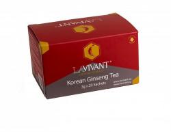 Ceai cu Extract de Ginseng Rosu Coreean LAVIVANT - 20 plicuri