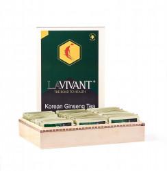 Ceai cu Extract de Ginseng Rosu Coreean LAVIVANT - 100 plicuri