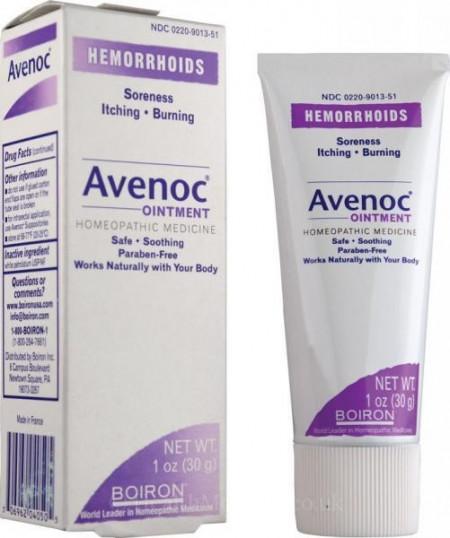 Avenoc unguent 30g tratament natural homeopat pentru hemoroizi, ulcer varicos si varice Boiron Franta