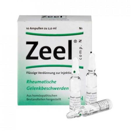 Zeel Comp N (Zeel T) 10 Fiole - Produs Homeopat, Tratament Antireumatic ~ Coxartoza, Gonartroza, Dureri articulare, Afectiuni Reumatismale, Reumatism Poliarticular, Fracturi Osoase, Inflamatii articulare