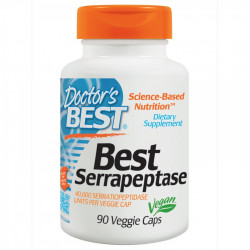 Doctor's Best Serrapeptase Tratament Sinuzita, Chist Ovarian, Tratament Adenom de Prostata si Prostatita 40.000ui 90 capsule