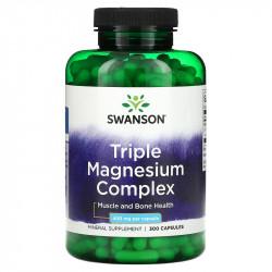 Triple Magnesium Complex, 400mg, Swanson, 400 capsule